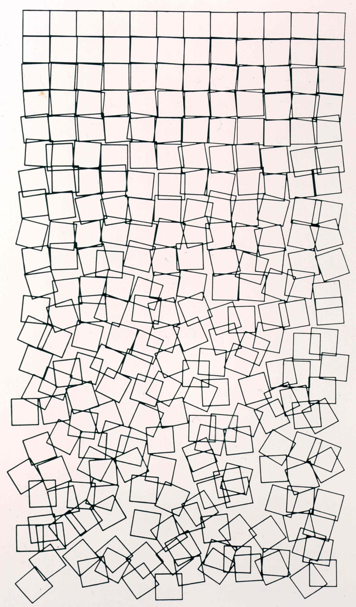 Georg Nees: Würfel-Unordnung, 1968-1971