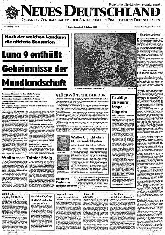 """""""Neues Deutschland"""", 5. Februar 1966"""