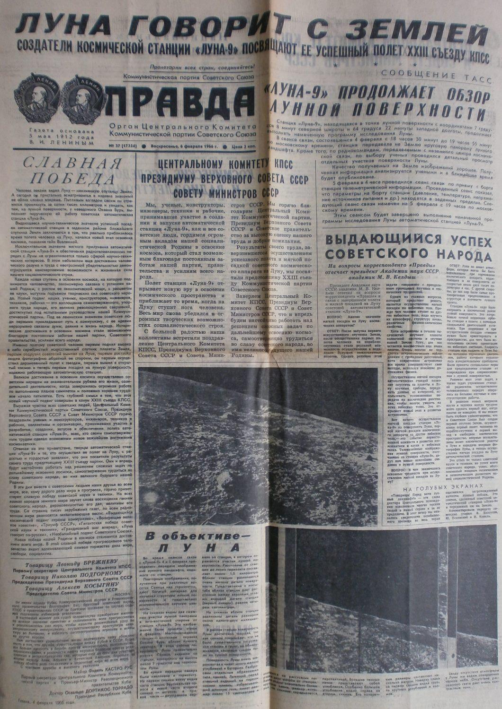 """""""Prawda"""", 6. Februar 1966"""