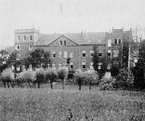 Gebäude der Kaiserwerther Diakonie 1929 - Florence Nightingale wohnte links im Turm
