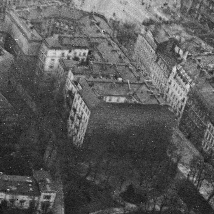 links oben im Bild befindet sich das im 2.Weltkrieg zerstörte Straßenbahndepot an der Kreuzbergstraße / Ecke Großbeerenstraße Aufnahmedatum: um 1920 Aufnahmeort: Berlin Systematik: Geographie / Europa / Deutschland / Orte / Berlin / A