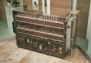 Elektronenrechner von Walter Sprick im Deutschen Museum