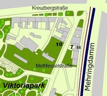 Die Methfesselstraße und ihre Umgebung heute