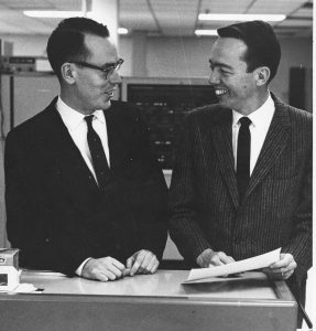 Ivan Sutherland - links - und David Evans (Foto University of Utah)