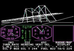 Grafik des Apple-Flugsimulators
