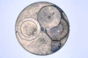 Getriebe eines persischen Astrolabs aus dem 13. Jahrhundert (Foto Museum of the History of Science Oxford)