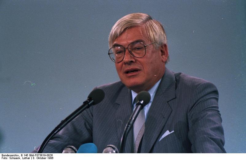 7./8.10.1986 34. Bundesparteitag der CDU in der Rheingoldhalle, Mainz (6.-8.10.1986).