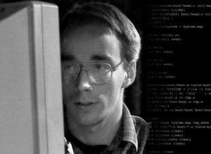 Linus Torvalds in den frühen Neunzigern