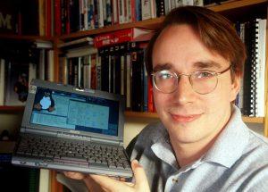 Einige Jahre später mit dem Linux-Pinguin Tux