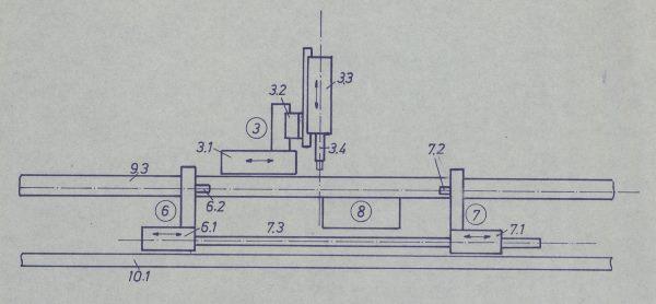 Skizze der Montagestraße von 1969 (Foto Konrad Zuse Internet Archive)