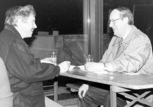 Norbert Ryska (links) und Theodor Rode, die ersten HNF-Geschäftsführer