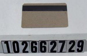 Prototyp der IBM-Magnetstreifenkarte (Foto Computer History Museum)
